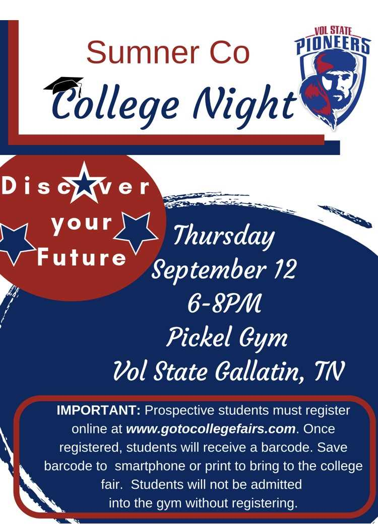 VSCC College Night Sept. 12