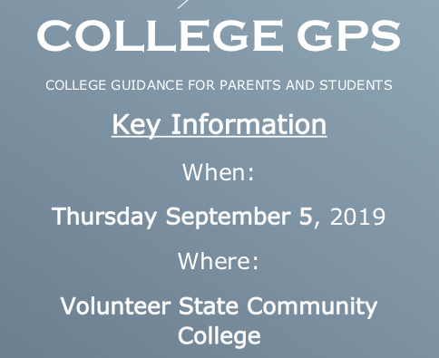 College GPS - Sept. 5th