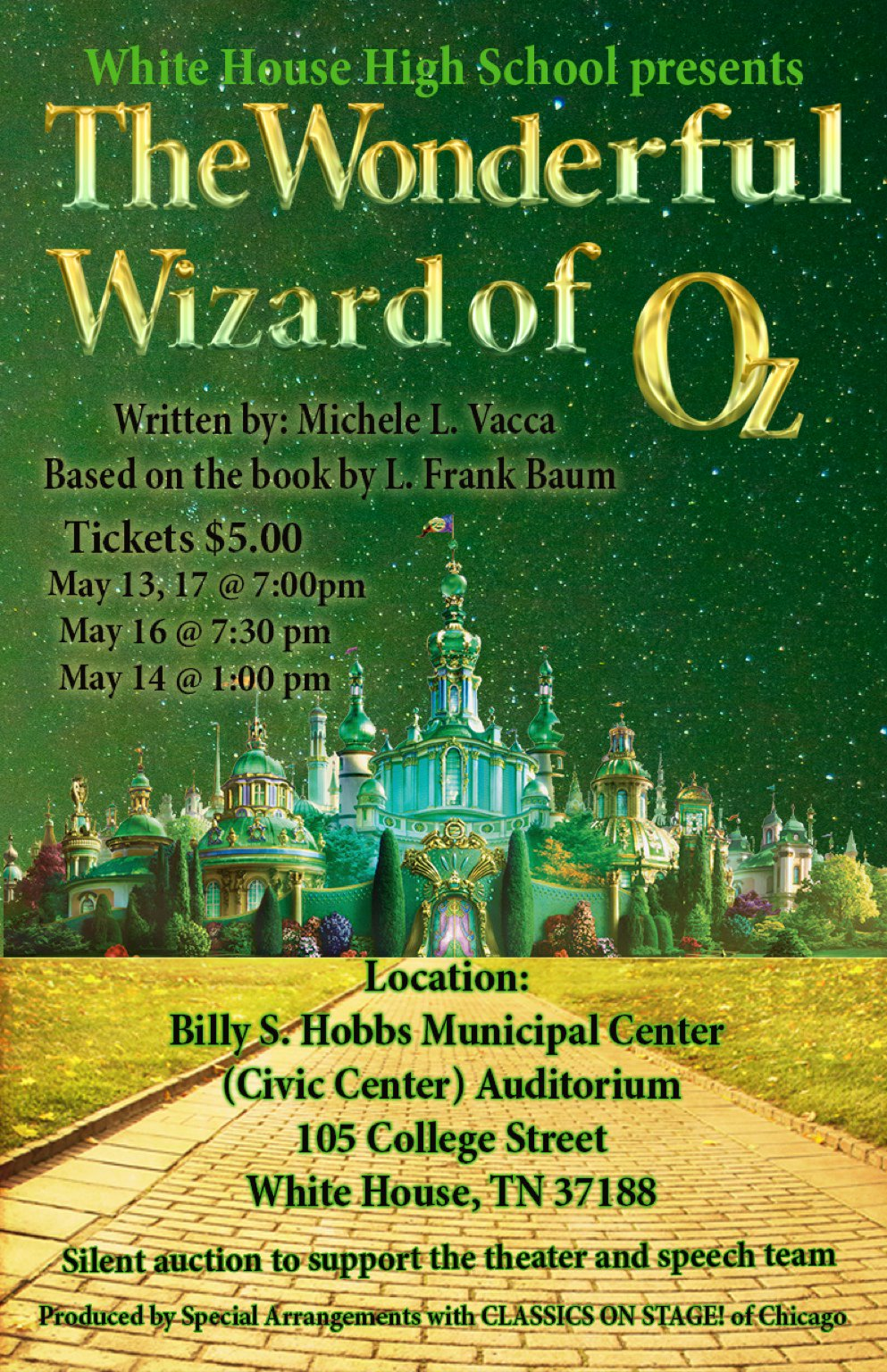 Theatre Presents The Wonderful Wizard of Oz @ Civic Center